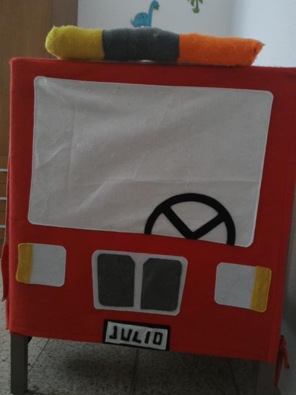 Camión de bomberos, hack de la cuna Sundvik de Ikea, Frontal