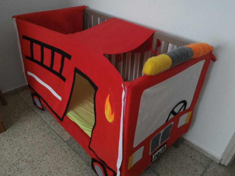 Ikea hack Sundvik crib Fire Truck