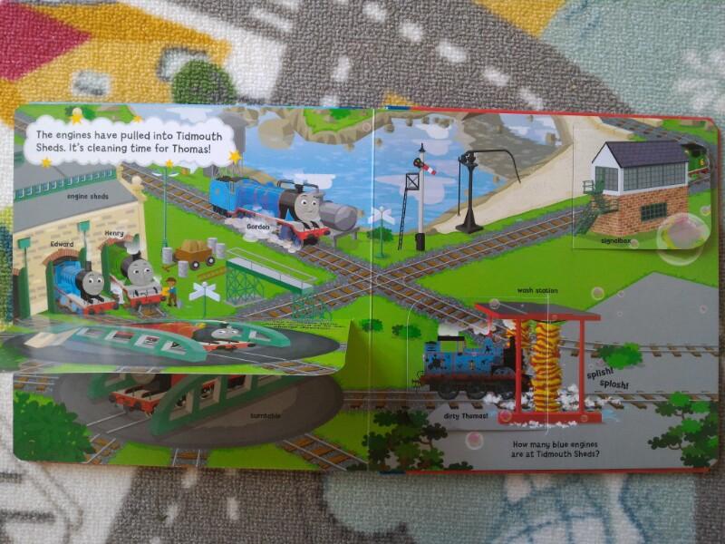 Libro tren Thomas con solapas
