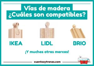 ¿Son compatibles las vías de madera de Ikea, Lidl, Brio...?