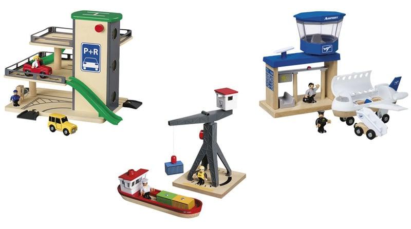 Accesorios para trenes de madera de Playtive