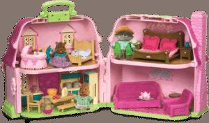 Li'L Woodzeez Casa de muñecas portátil