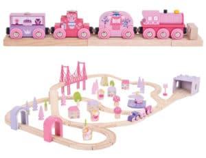 Trenes de madera para niñas