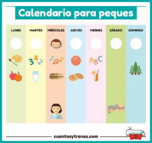 Calendario para niños de preescolar