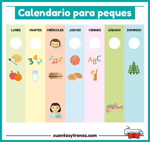 Calendario Para Kinder.Calendario Para Ninos De Preescolar Gratuito Cuentos Y Trenes
