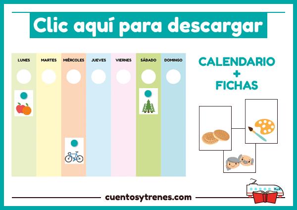 Descarga calendario para niños de infantil