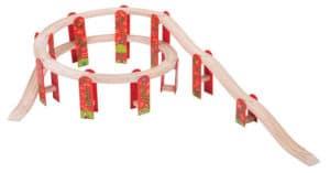Puente en espiral de Bigjigs Rail