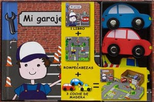 Puzzle de ciudad con coches de madera