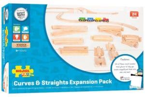 Set expansión vías de madera de Bigjigs Rail