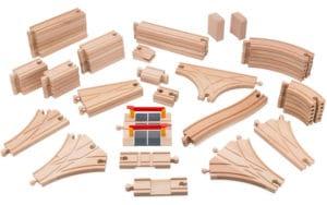 Set de vías de madera de Playbees