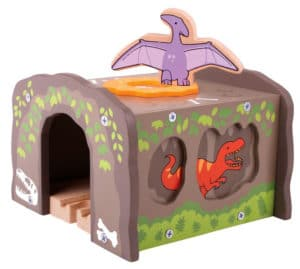 Túnel con dinosaurios de Bigjigs Rail