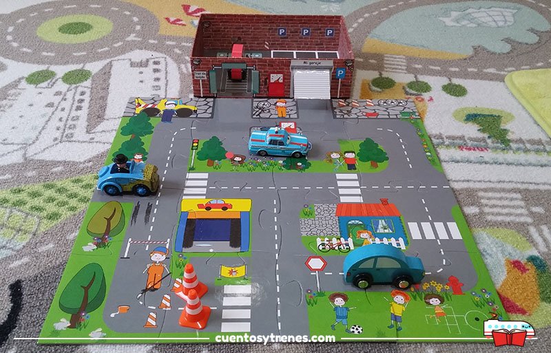 Puzzle carretera de juguete