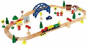 Circuito de tren de madera de Chad Valley
