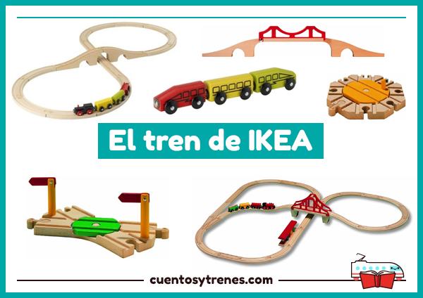 Tren de Ikea de madera LILLABO