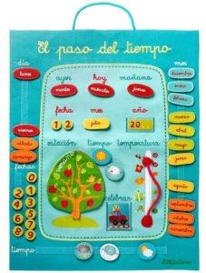 Calendario infantil de tela
