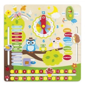 Calendario de madera en español bonito