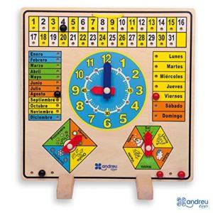 Calendario de madera de Andreu Toys
