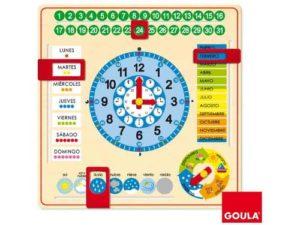 Calendario para niños de madera de Goula