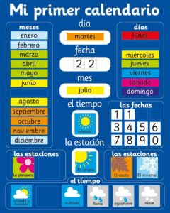 Calendario magnético infantil