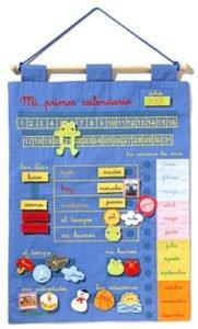 Calendario para niños de tela