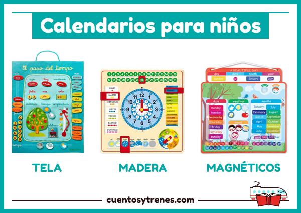 Calendarios para niños de madera, tela y magnéticos