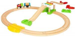 Tren de madera para bebés con xilófono Brio