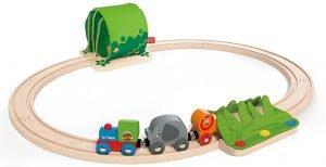 Tren de madera de la selva para bebés