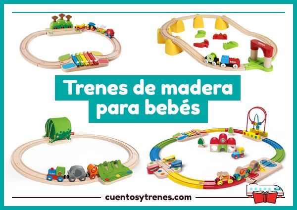 Trenes de madera infantiles para bebés