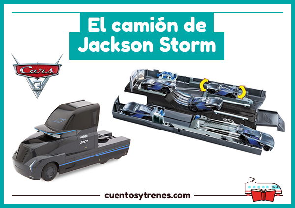 cami n de jackson storm y otros camiones de cars 3 cuentos y trenes. Black Bedroom Furniture Sets. Home Design Ideas