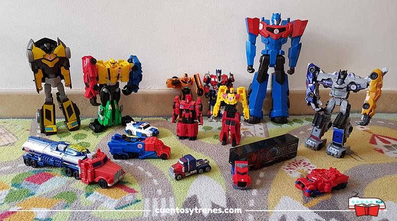 Nuestros juguetes de Transformers